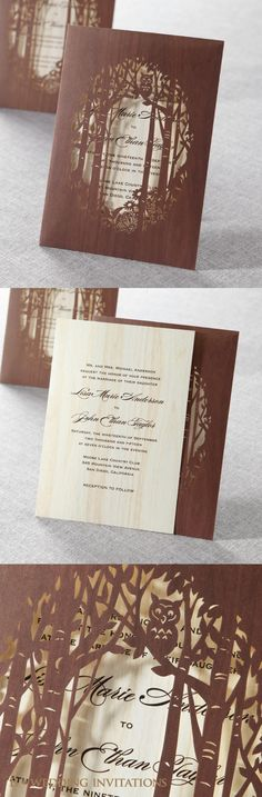 Really nice paper cut wedding stationery suites by The Time is