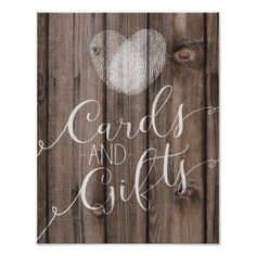 Template rustic wood cards and gifts wedding sign poster