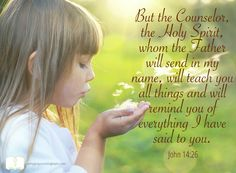 Thank you God for the gift of the Holy Spirit, teaching and speaking to me Your word. Amen
