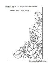 Floral Carving | Cowboy Crafts Online