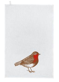 Thornback and Peel hand screen printed linen tea towel available at www.thornbackandpeel.co.uk