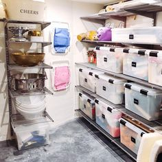 Ready to tackle your basement? We've gathered basement organization, design, and storage ideas that will help you make a functional living space that's clutter free! Garage Storage Bins, Garage Storage Solutions, Stair Storage, Storage Room, Diy Storage, Room Organization, Storage Ideas, Diy Projects Garage, Basement Shelving