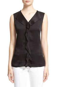 St. John Collection Liquid Crepe V-Neck Shell available at #Nordstrom