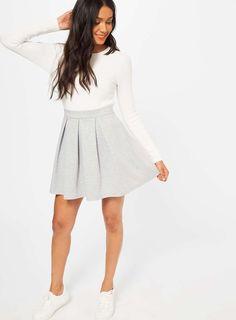 Grey Ponte Skater Skirt