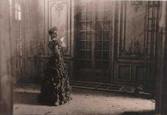 3. Deborah Turbeville  Charlotte Pelle in Paco Rabanne in an abandoned chateau near Deauville, France, 1985