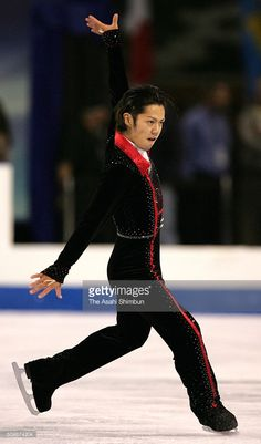 Daisuke Takahashi of Japan competes in the Men's Singles Short Program during day one of the Skate America at the Boardwalk Hall on October 20, 2005 in Atlantic City, New Jersey.
