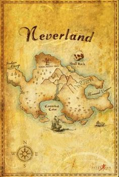 Peter Pan- Map to Neverland