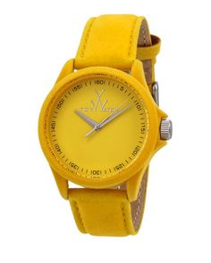 Sartorial+Washed+Leather+Watch,+Yellow+by+ToyWatch+at+Neiman+Marcus+Last+Call.