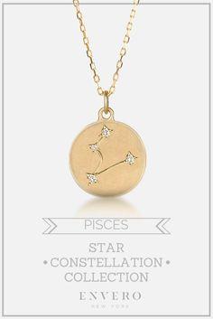 Pisces Constellation Necklace – Envero Jewelry
