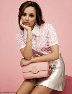 Jade Thirwall in a Dior T-shirt and metallic skirt. Cute, huh?