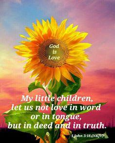 1 John 3:18 (NKJV)                                                                                                                                                                                 More