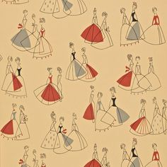 """""""Fifi"""" Sanderson wallpaper - I would totally frame some of this/make a cork board with it for my sewing room"""