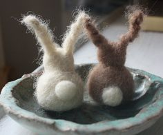 """Bunny Friends"" by Winsome Hollow Design, textile and fiber art, Etsy, via Flickr❥"