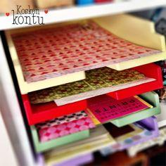 Paperit järjestykseen: väriä vanhaan lomakelokerikkoon