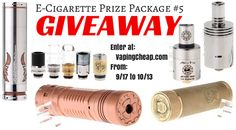 Enter to Win a E-Cigarette Mod & RDA Prize Pack! http://wp.me/p4HiPf-1Ou
