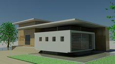 Radio and Television studio for University Sergio Arboleda in Santa Marta, Colombia, designed by architect Orlando Carlos Olmos.