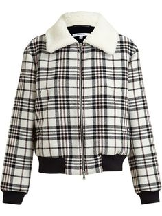 Shop Carven tartan bomber jacket in Browns from the world's best independent boutiques at farfetch.com. Over 1000 designers from 60 boutiques in one website.