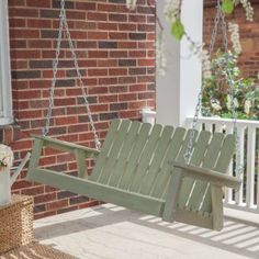 Shoreline Adirondack Porch Swing - Driftwood