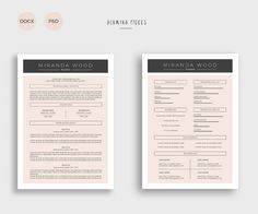 Resume With Cover Letter By Leo Resume On Creativemarket  Resume