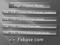 High Impact news on 22.01.2013