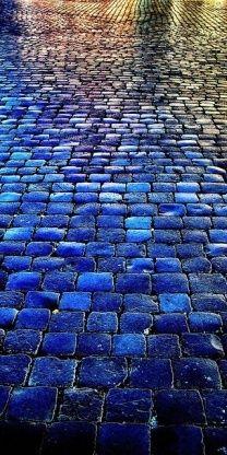 blue bricks.  Why aren't all bricks this beautiful blue?