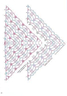 Image Article – Page 440297301069371036 – SkillOfKing.Com - Stola Stricken Crochet Shawl Diagram, Crochet Poncho, Crochet Chart, Crochet Scarves, Crochet Motif, Crochet Clothes, Crochet Lace, Crochet Stitches, Crochet Patterns