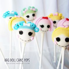 Lalaloopsy cake pops - why do these make me think of my God Daughter?