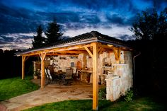 Grilovací dům obr.3 Gazebo, Outdoor Structures, Cabin, House Styles, Home Decor, Kiosk, Decoration Home, Room Decor, Pavilion