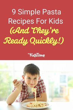 9 Simple Pasta Recipes For Kids (and They're Ready Quickly) Macaroni Pasta, Bacon Pasta, Pasta Soup, Chicken Pasta, Pasta Recipes For Kids, Kids Pasta, Pizza Recipes, Family Meals, Kids Meals