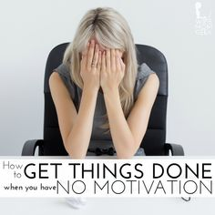 Getting things done when you're pumped, motivated and excited is a breeze. The anticipation and excitement give you the adrenaline you need to push through even the most challenging tasks. But when you're feeling down or just don't feel like doing anything—what then? Here are 5 ways to get things done even when you don't feel like it…