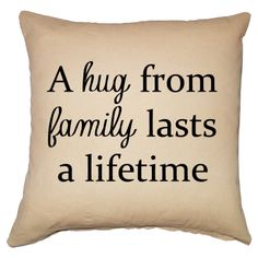 A Hug from Family Pillow