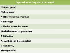 Forum | Learn English | Common Phrases to Say You Are Unwell | Fluent Land