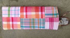 Madras patchwork Sunglass case-Tuckers Point