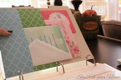IHeart Organizing: how to make pockets for home management binder