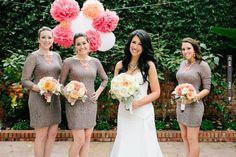 brown lace bridesmaid dresses | CHECK OUT MORE IDEAS AT WEDDINGPINS.NET | #bridesmaids