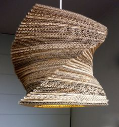 living and creative lamp brown distinctive bedroom cardboard corrugated light delightful recycled elegant item room for paper