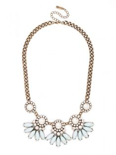 Pearl Aster Collar Necklace | BaubleBar
