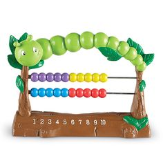 Learning Essentials™ Counterpillar™ Count on this friendly caterpillar to invite early learning exploration! Slide the colorful beads – sized perfectly for little fingers – to learn counting, more or less, and early addition.
