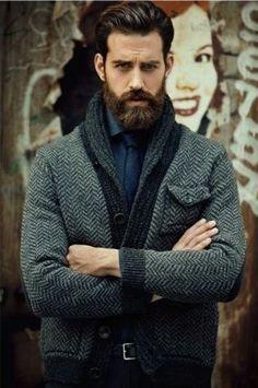A little breathless here... Sharp Dressed Man, Well Dressed, Hairy Men, Bearded Men, Menswear Dog, A Well Traveled Woman, Beard Love, Perfect Beard, Beard Tattoo