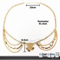Women Boho Bohemian Gypsy Multilayer Belt Belly Hips Waist Body Chain Jewelry