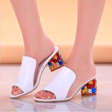 Estilo del verano mujer sandalias Sexy abierto Toe cuña se desliza zapatos de tacones altos sandalias Flip flop zapatos de plataforma(China (Mainland))