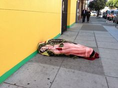 Homeless Man in SF Mission District (20th Street, it appears) - Imgur