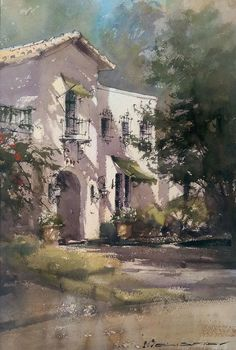 👉🏻 to see more ❗️. Watercolor by Vladislav Yeliseyev. Watercolor Architecture, Watercolor Landscape, Landscape Art, Landscape Paintings, Watercolor Pictures, Watercolor Sketch, Watercolor Artists, Watercolor City, Urban Sketching
