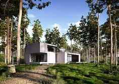 Making of House of da moos - Peter Oldorf, lichtecht. 3d Architectural Visualization, Architecture Visualization, Contemporary Architecture, Architecture Design, Community Housing, Box Houses, Shipping Container Homes, 3d Max, Built Environment