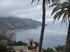 A Day At The Beach: Breathtaking view in Taormina, Sicily during a walk on a lazy afternoon. #travel #italy