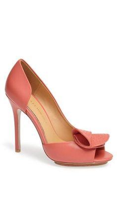 Coral heels by Badgley Mischka