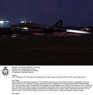 20120320raaf8540677_0100.JPG A No. 6 Squadron F/A-18F Super Hornet takes off for a night mission at Exercise FARU SUMU, RAAF Base Darwin. © Commonwealth of Australia