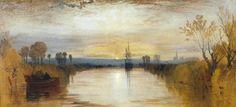 Joseph Mallord William Turner (1775-1851), Chichester Canal (Canal de Chichester), 1828, Óleo sobre lienzo