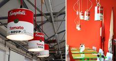 Lampes Campbells industrielles. Crédit photo : http://www.boxvox.net