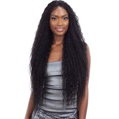 Curling Iron Hairstyles, Curled Hairstyles, Synthetic Lace Front Wigs, Synthetic Wigs, 360 Lace Wig, Lace Wigs, Senegalese Twist Crochet Braids, Ebony Hair, Brazilian Curly Hair